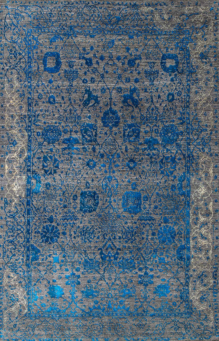 2Jeziorak In Blue  Silver  Designer Isfahan Kopie
