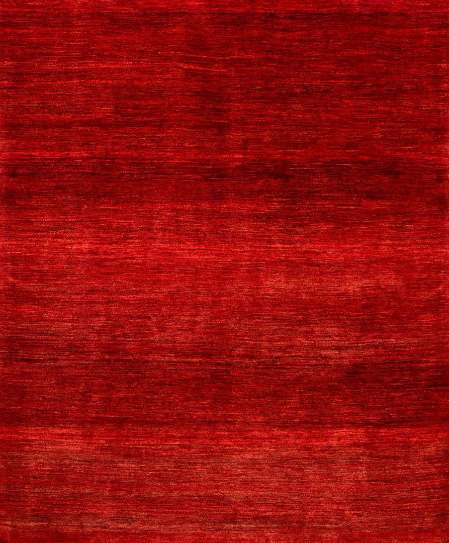2Plain Abrash Red W Gabbehs Plain Collection  261X179Cm