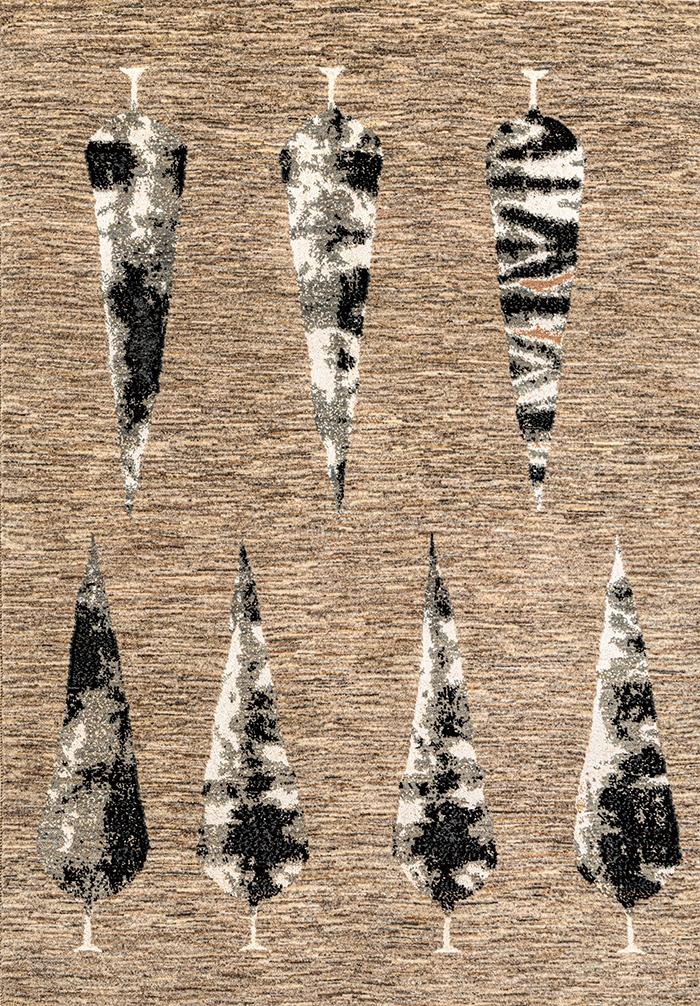 Abstract Winter Wonderland Web Transitional Tribal 141 X 202Cm 2