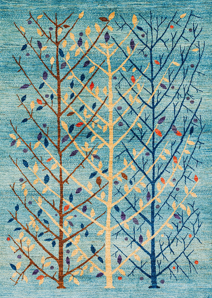 Abstract Winterbound Arboretum WEB Transitional Tribal 162 x 235cm