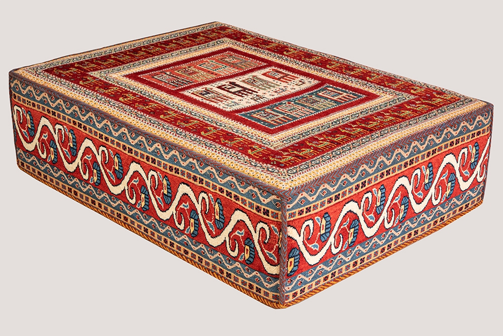 Afshar Rectangular Table 1 web1 L120 W100 H40 cm