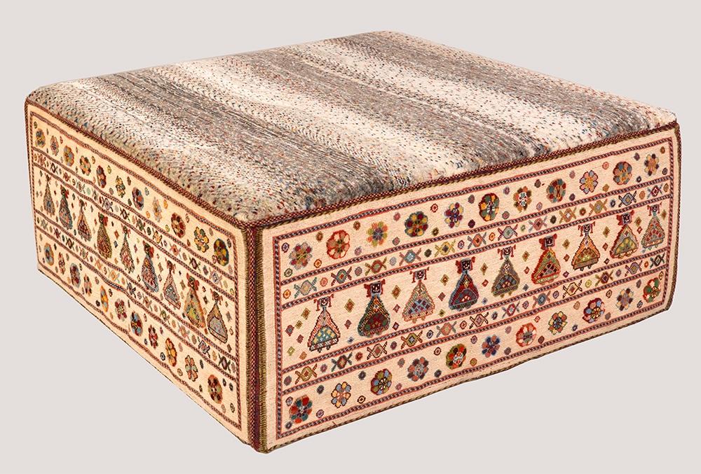 Afshar Rectangular Table 2web1 L100 W100 H40 cm