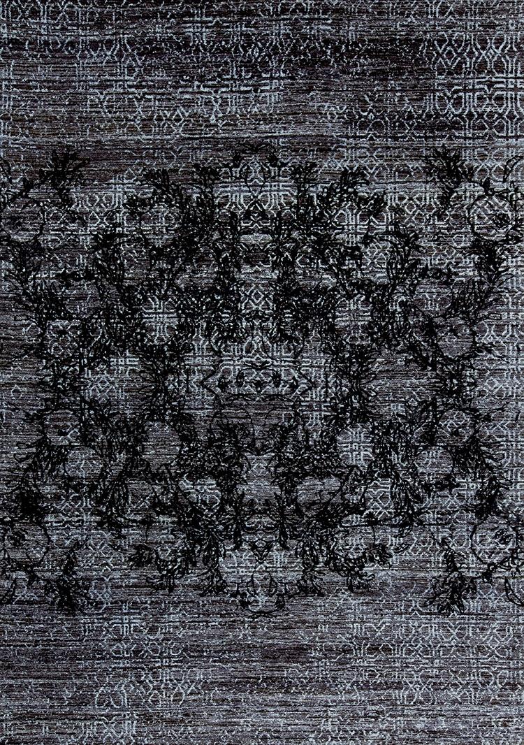 Anar Dar Toor 4 Web Black Dark Grey Light Blue Isfahan Anar Collection 208 X 302Cm  Nov24 For Zollanvari