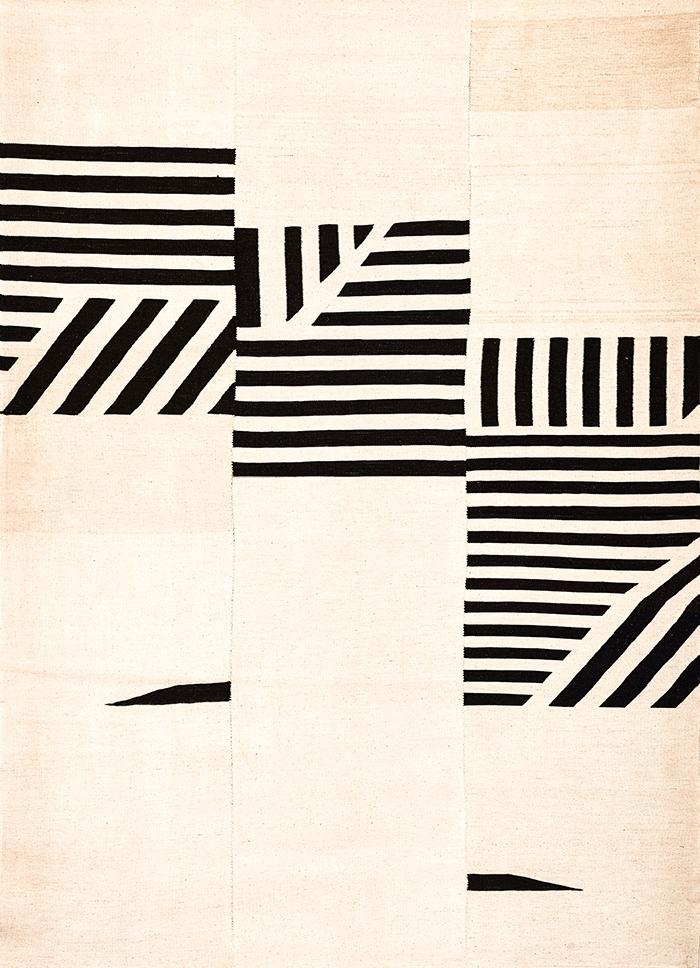 Art Deco Foliole Baneh Kelim web Flatweaves Minimalist 227 x 317cm