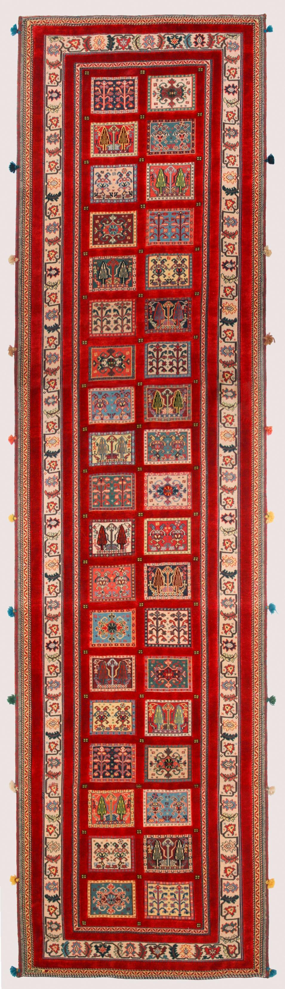 Baluch Soumak Runner Transitional Tribal 82 x 300cm