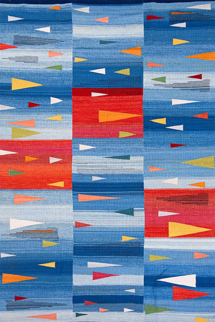 Bauhaus meets Ghashghai 2 WEB Baneh Kelim Flatweaves Minimalist 205 x 308cm