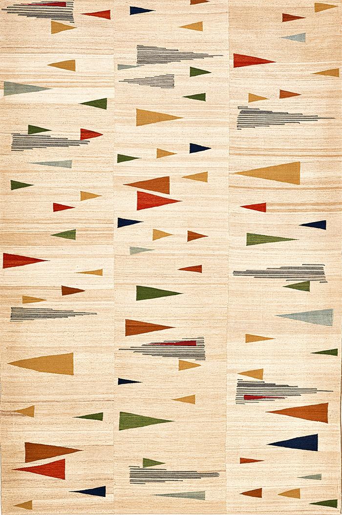 Bauhaus meets Ghashghai web Baneh Kelim Flatweaves Minimalist 207 x 313cm