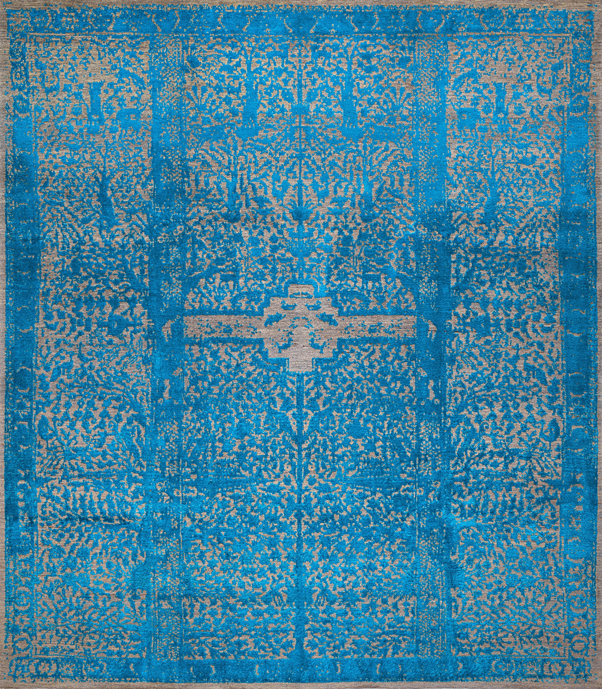 Classical Garden in Vibrant Blue PR 248 x 290cm