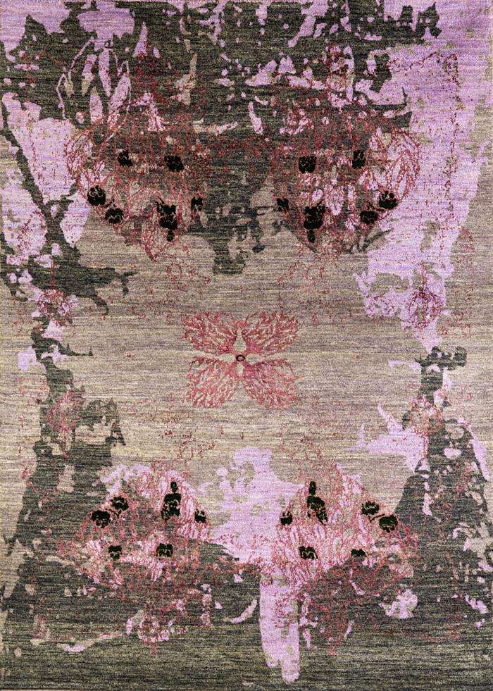 Derakhte Anar In Lilac  Purple  Grey 1B  Designer Isfahan  172 X 241Cmw
