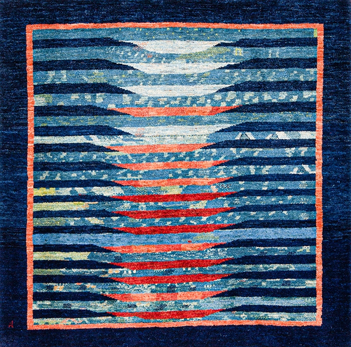 Framed Mirage 1 web Gabbehs Abstract Plain Kashkuli 119 x 117cm