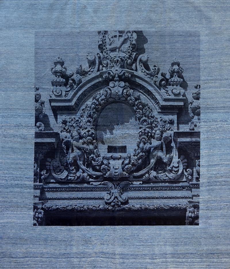 Framed Sicilian Baroque On Blue Grey 245 X 284Cm Web