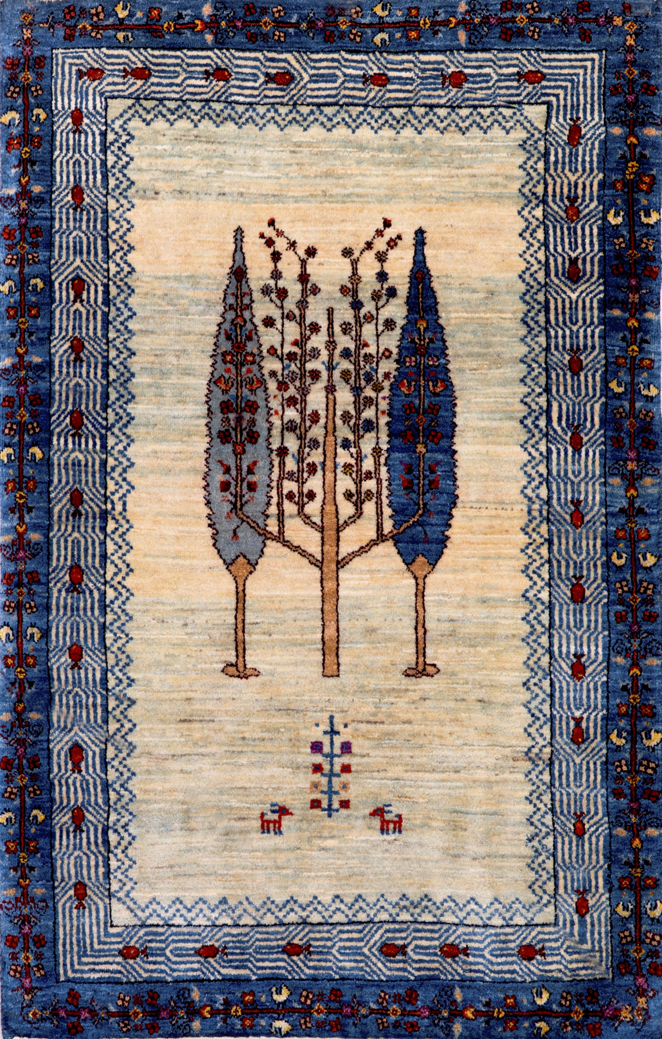 Framed Cypress Trees  Gabbehs Flora  Fauna  85X131Cm Kopie