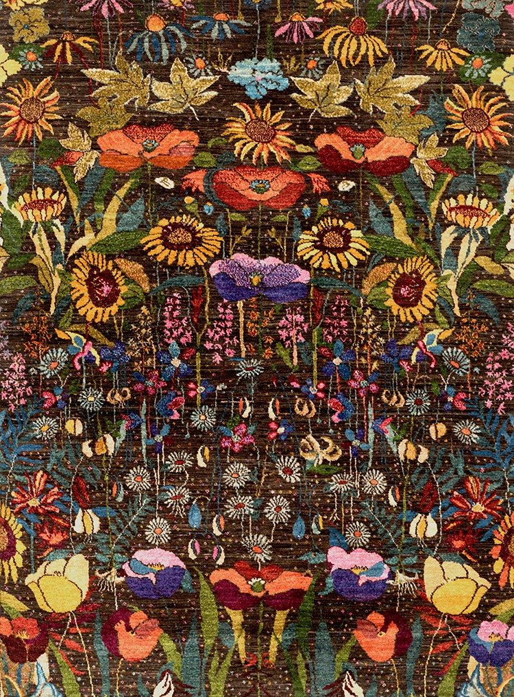 Garden Of Eden Web Gabbehs Flora Fauna 150 X 200Cm