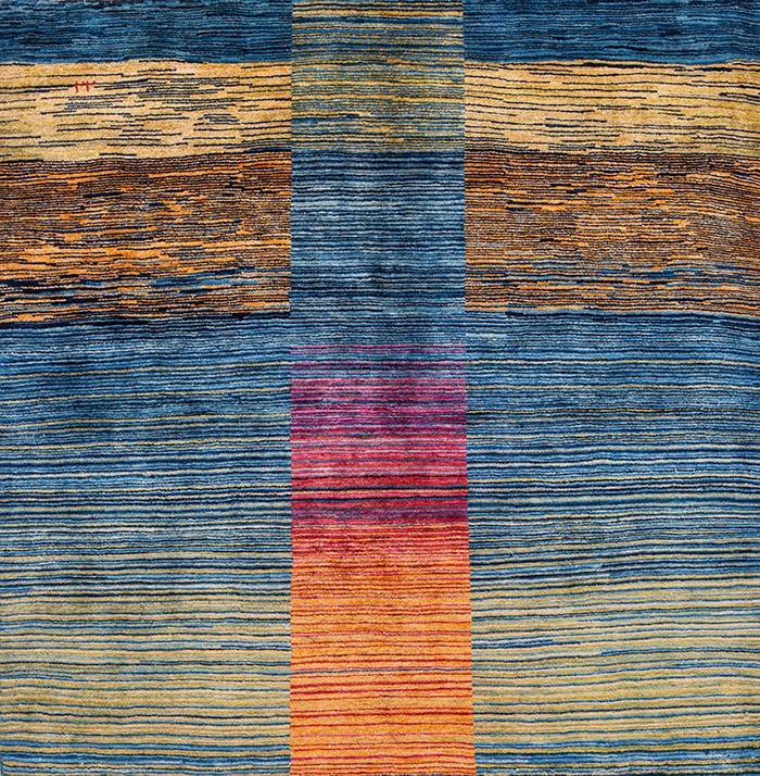 Illusory Pathways WEB Gabbehs Abstract Plain Kashkuli 150 x 150cm