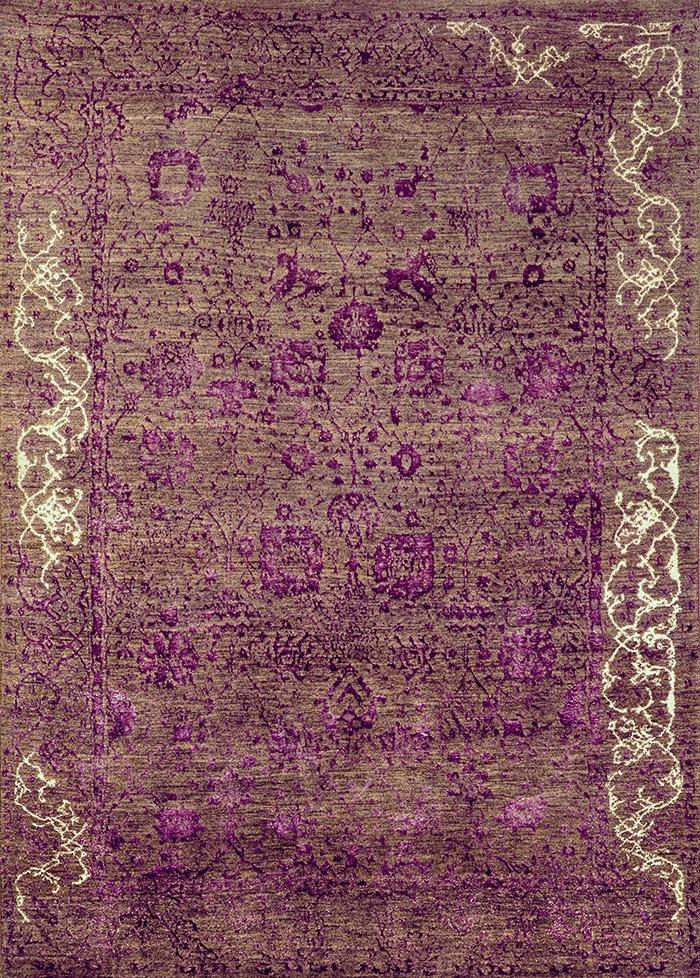 Jeziorak in Silver web Violet Designer Isfahan 200 x 278cm Designed by NOV24 for Zollanvari