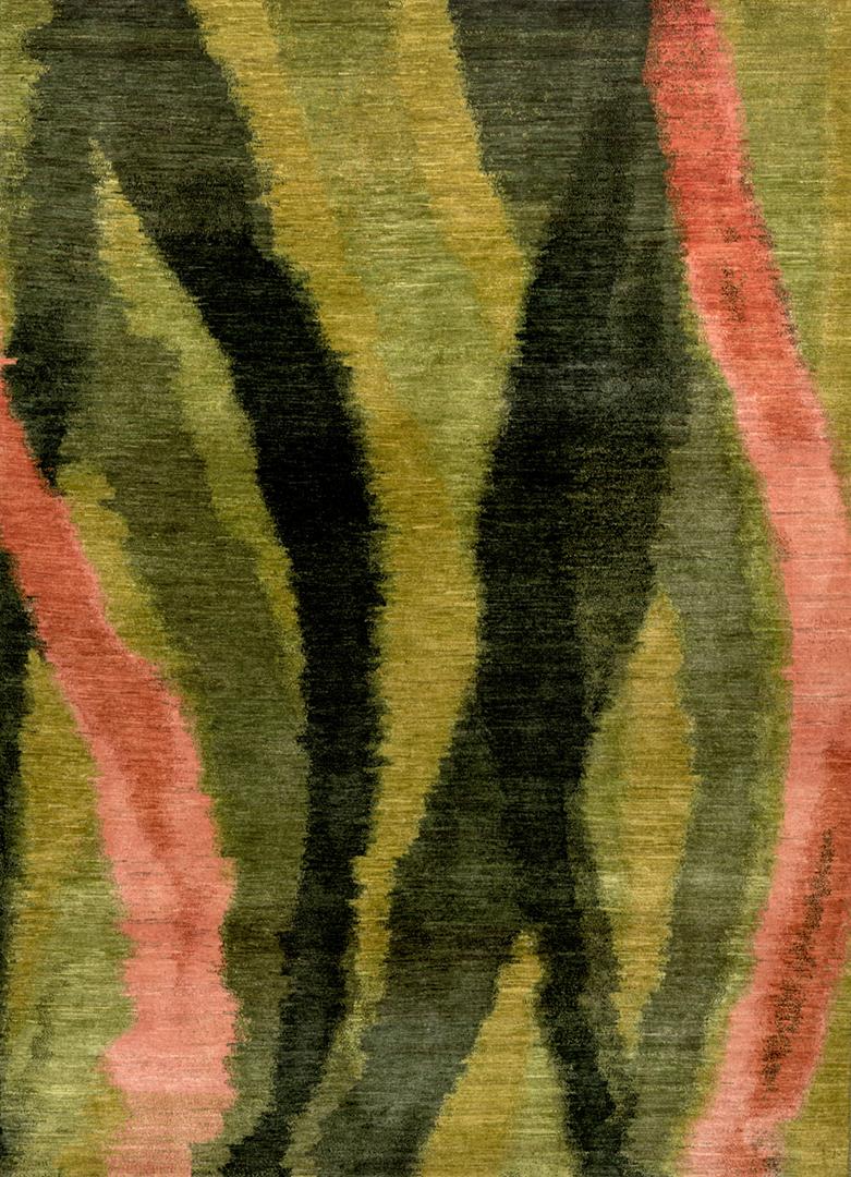 Kyoto Shibori In Greens  Pinks 2  Gabbehs Abstract  Plain  202 X 299Cmw