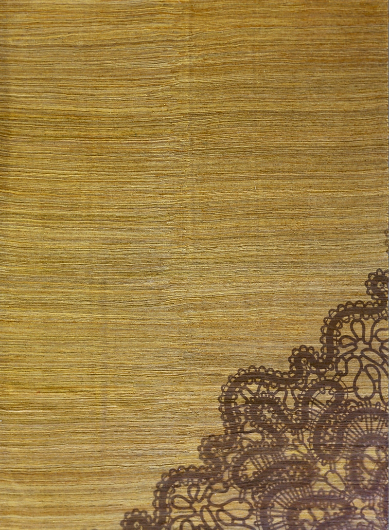 Lace On Neutral Olive 219 X 301Cm Web