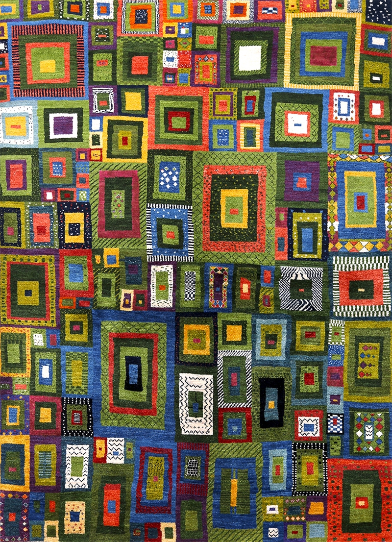 Licorice All Sorts Gabbeh 2 Web Squares Revisited Gabbehs Geometric 168 X 236Cm