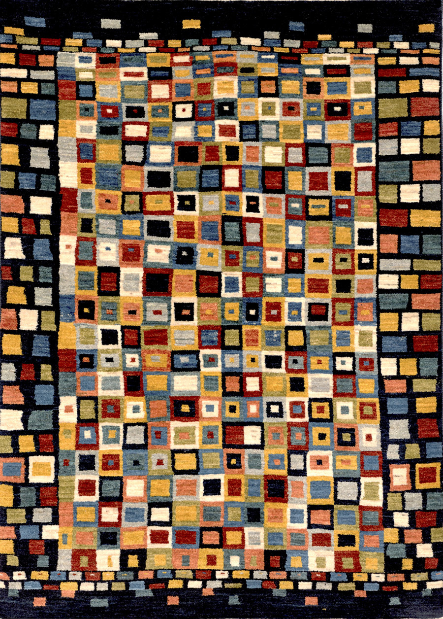 Licorice All Sorts Gabbeh Squares Revisited Gabbehs Geometric 124X175Cm