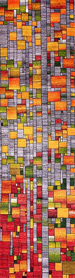 Modernist Stained Glass runner 1 WEB Zollanvari Studio Kashkuli 81 x 299cm