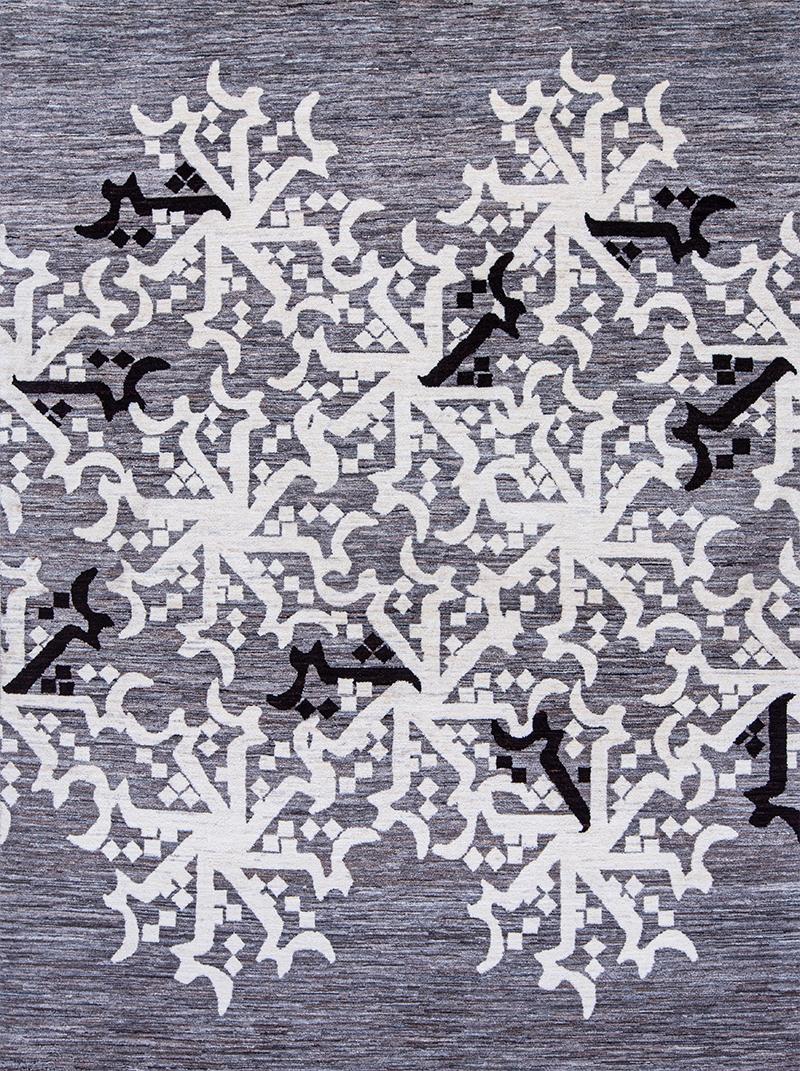 Monochrome Cuneiform S H I R web The Lion Collection NOV24 Studio for Zollanvari 121 x 287cm