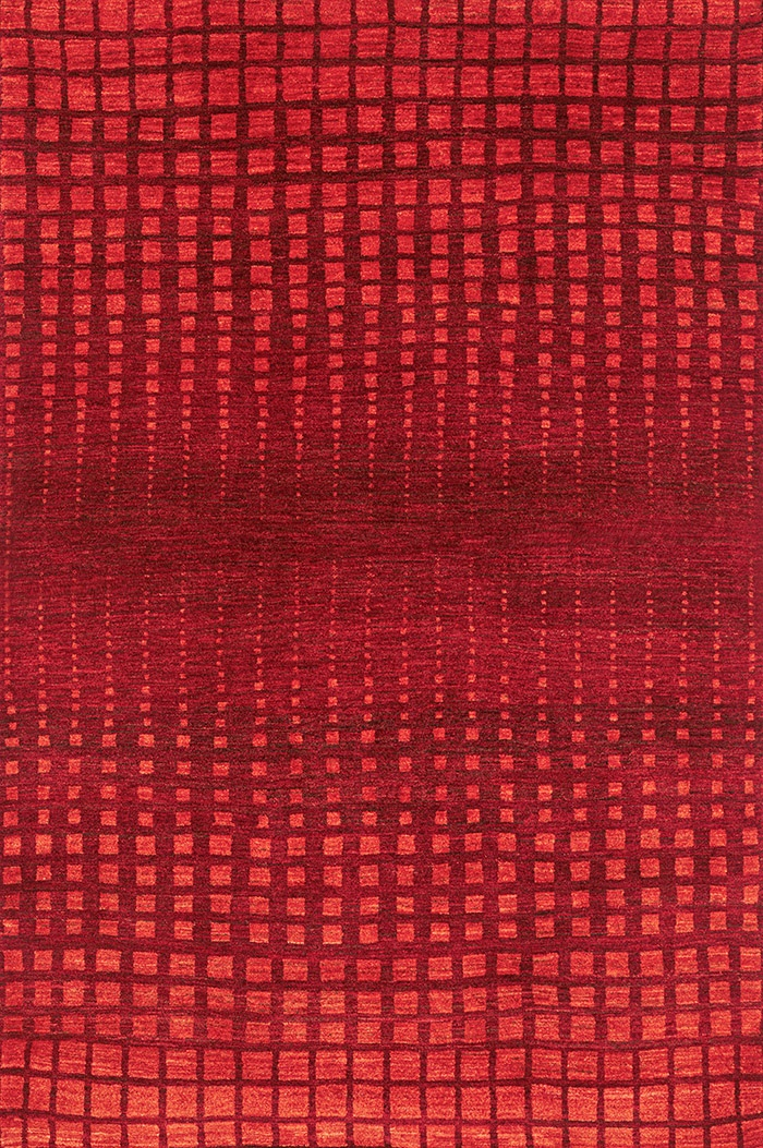 Perspectives in Red Wool 170 x 240cm W