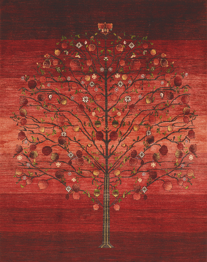 Pomegranate Tree Of Life 2 Gabbehs Flora Fauna 200 X 300Cm