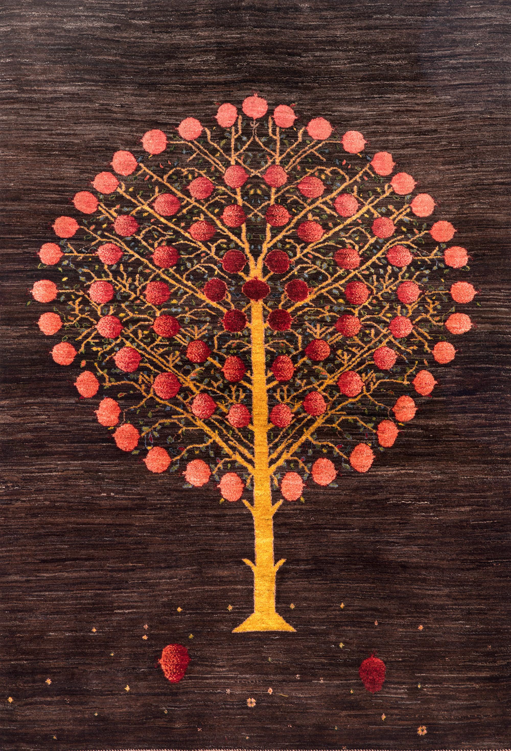 Pomegranate Tree Of Life 3Press Gabbehs Flora Fauna 146 X 214Cm