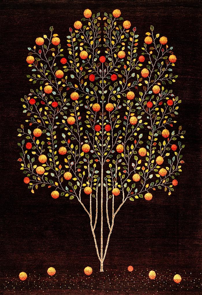 Pomegranate Tree of Life 6 web Gabbehs Flora Fauna 170 x 240cm