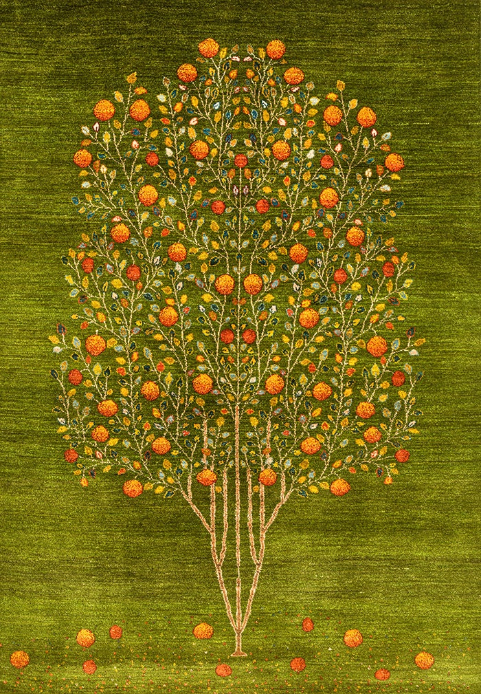 Pomegranate Tree of Life 7 web Gabbehs Flora Fauna 170 x 240cm