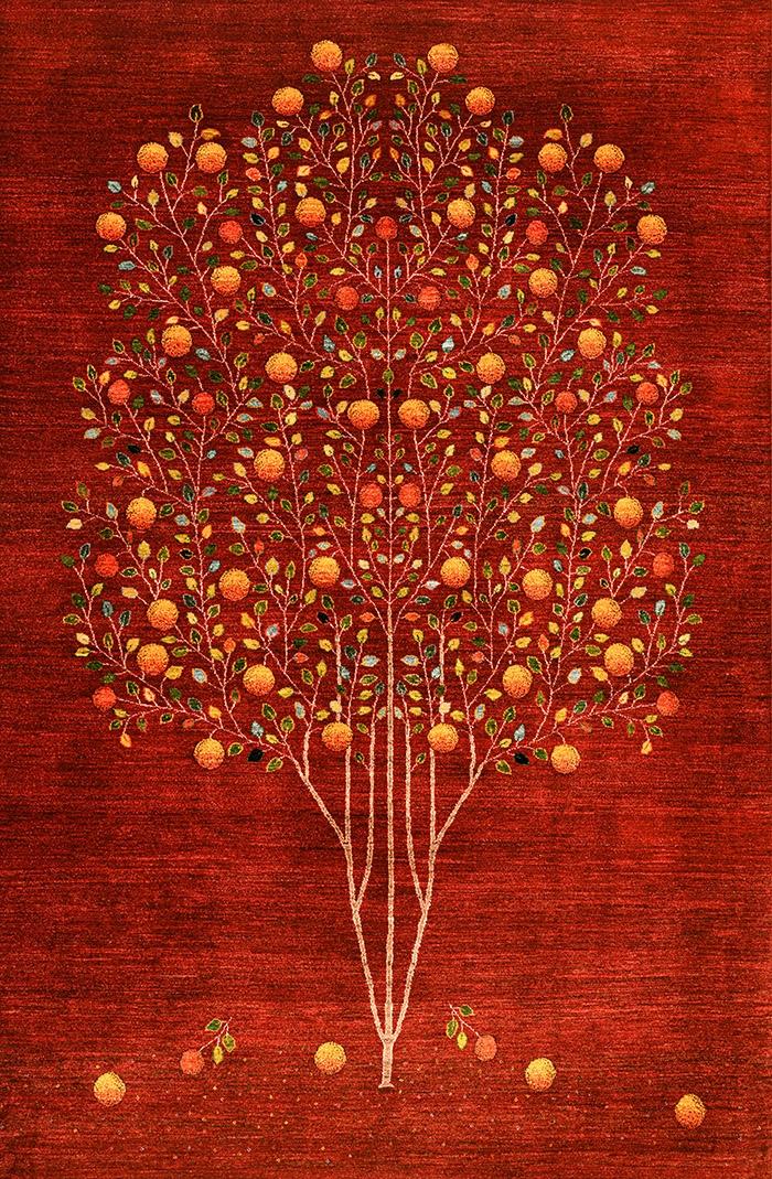 Pomegranate Tree of Life 8web Gabbehs Flora Fauna 170 x 240cm