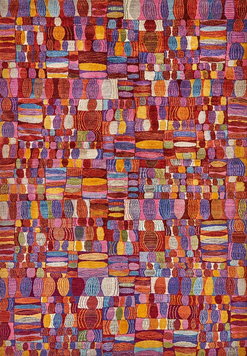 Quilt Crazy In Red Pink Orangeweb Gabbehs Geometric 166 X 236Cm