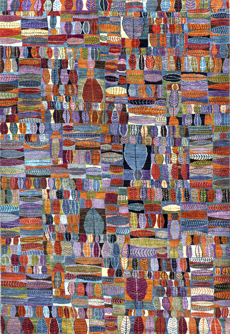 Quilt Crazy In Blue W  Orange  Violet  Gabbehs Geometric Collection 165X242Cm