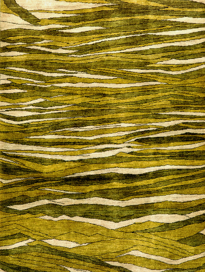 Rolling Green Hills W  Gabbehs Abstract  Plain Collection  195X147Cm