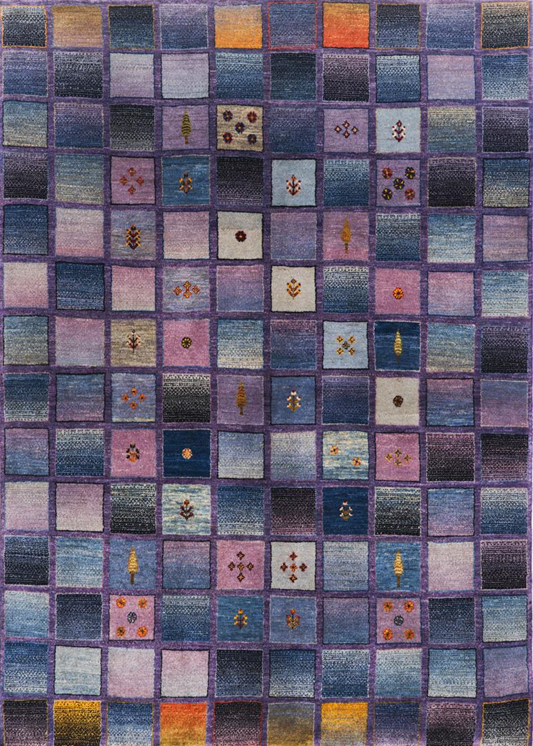 Squares Revisited 8  Kashkuli  149 X 208 Cm