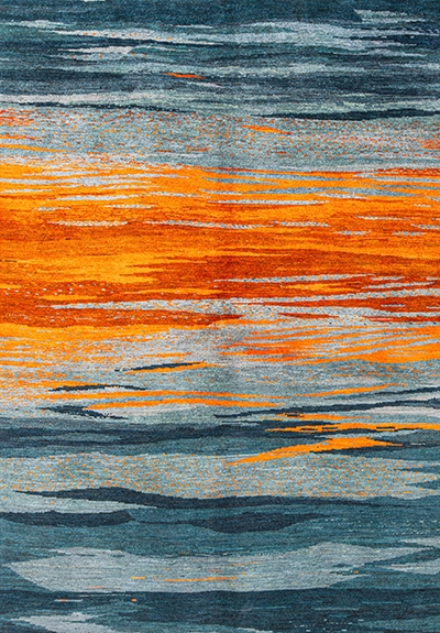 Sunset Over The Oceanweb Gabbehs Abstract Plain 236 X 161Cm