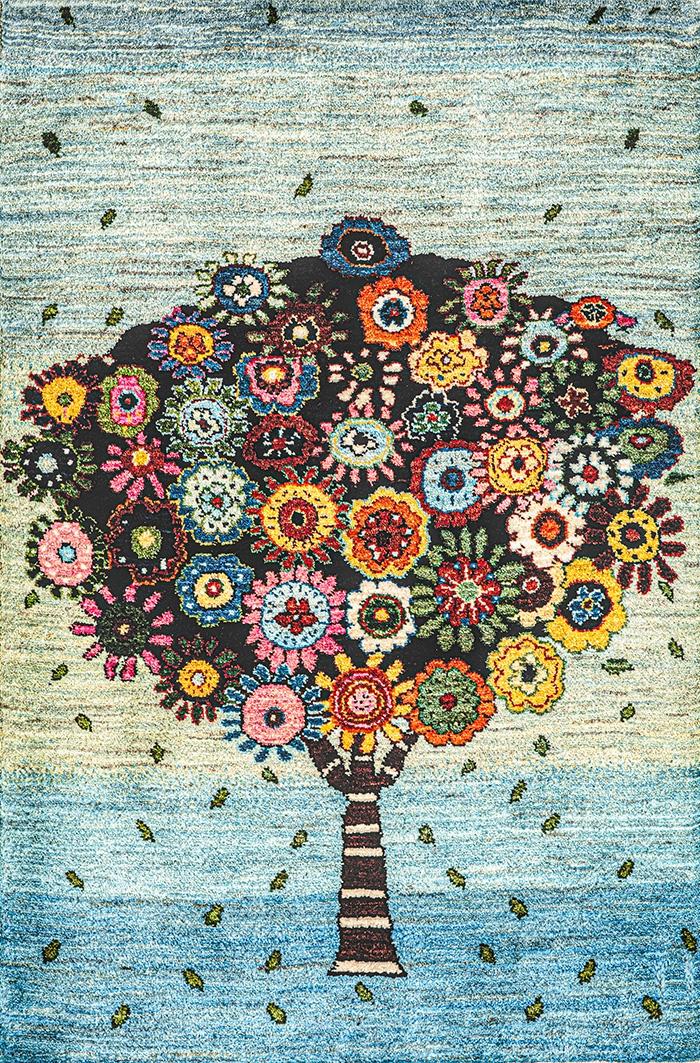 Tree of Hope Joy WEB Tree of Life Gabbehs Flora Fauna 78 x 121cm