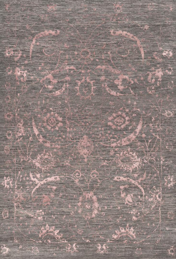 Vase In Coral Pink  Silver  Designer Isfahan  199 X 283Cm