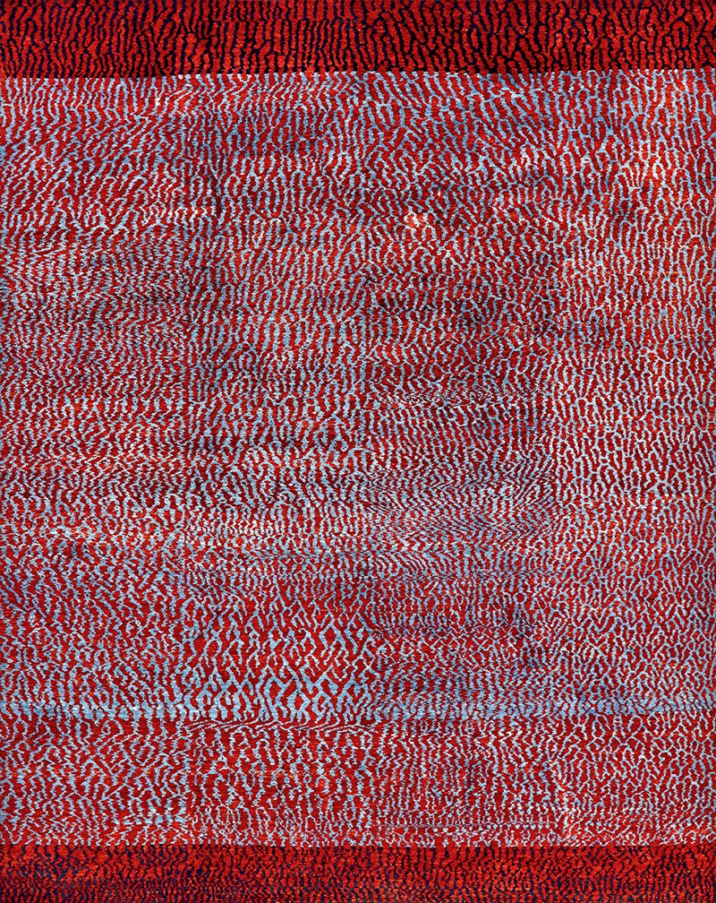 Water Meadow in Red Blue web Zollanvari Studio 236 x 292cm