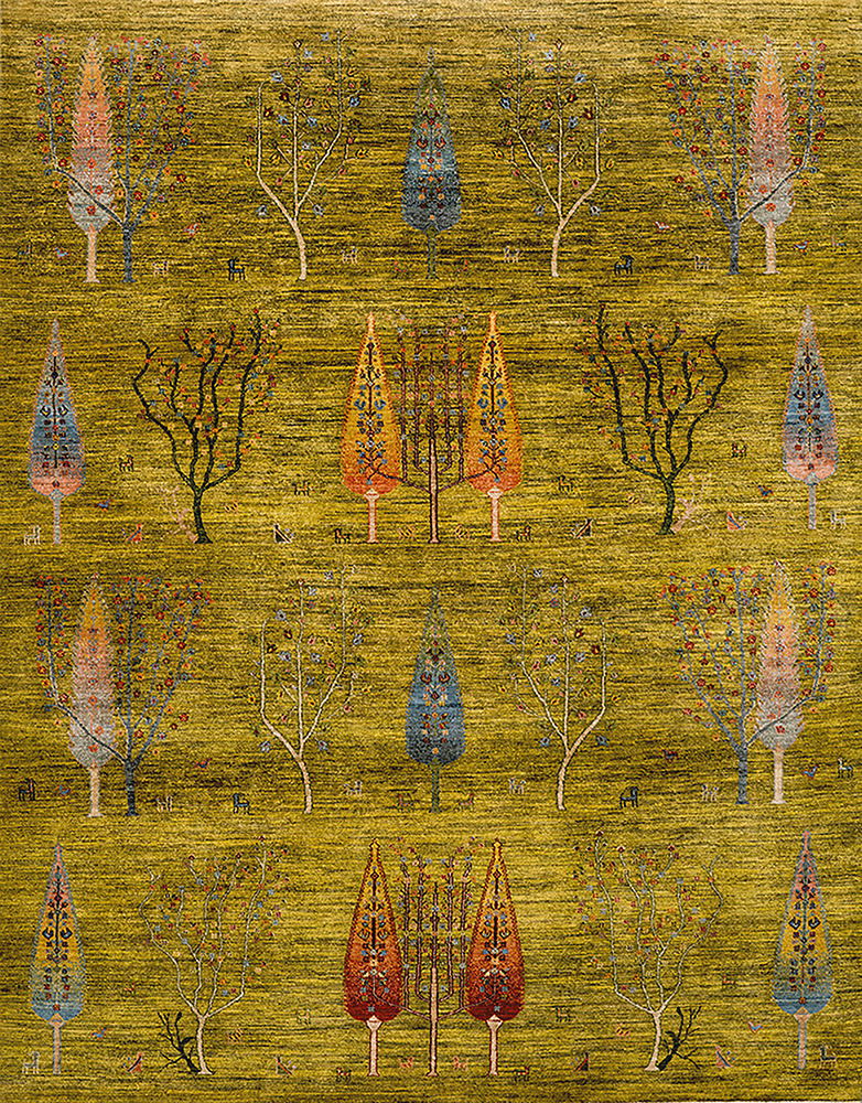Woodland At Noon  Into The Woods  Transitional Formal  245X310Cm
