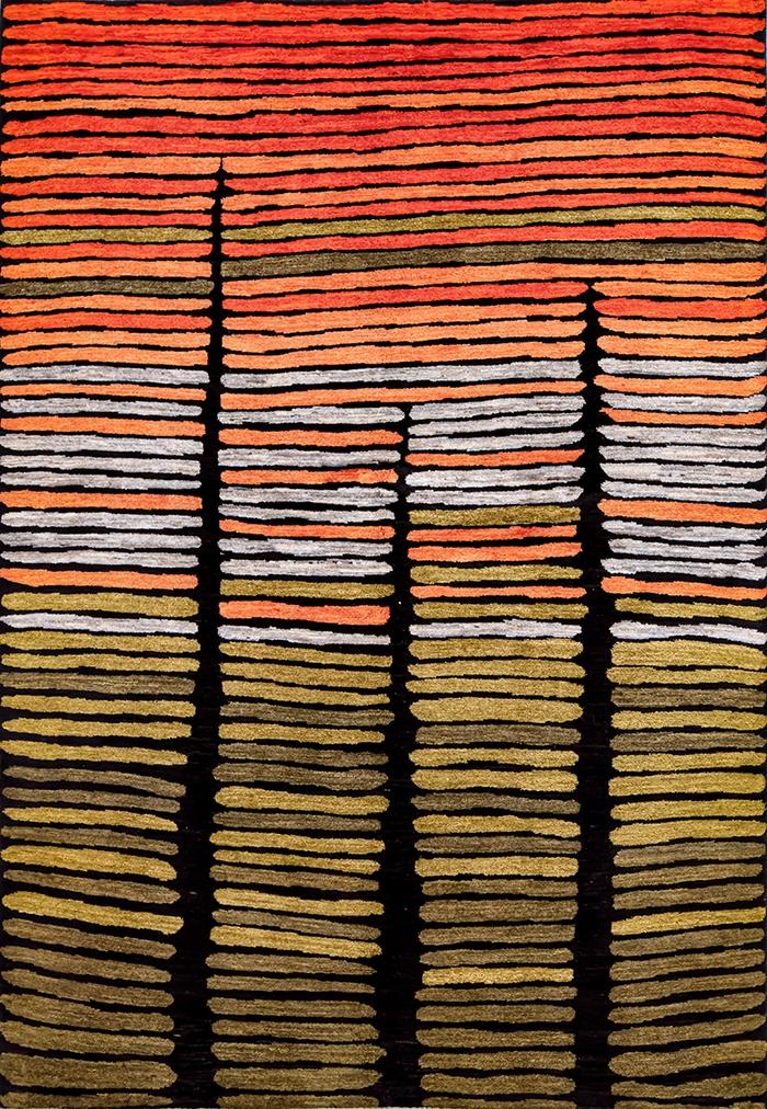 Zagros Songlines a la Fontana 2 WEB Tribal Aborigene Zollanvari Studio 173 x 245cm